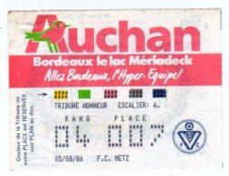 Billet Championnat De France,Girondins De Bordeaux-F.C Metz - Tickets - Vouchers