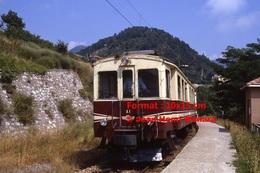 Reproduction Photographie D´un Train N°A1 à Voie étroite Ferrovia Genova Casella Dans Les Montagnes à Gènes En Italie En - Riproduzioni