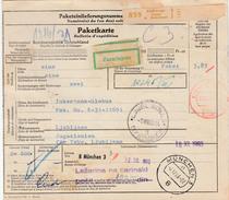 Germany Parcel Card Eschwege To Ljubljana 1963 Bb161110 - Covers & Documents