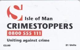 Isle Of Man, MAN 116, Crimestoppers, 2 Scans .  Bigger CN