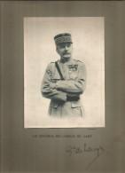 Photographie Dédicacée , 19 X 14 Sur Support 32.5 X 25 , Militaria , Le Général DE LANGLE DE CARY , Frais Fr : 1.55€ - Dédicacées