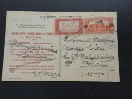 FRANCE / ALGÉRIE - Oblitération De Batna Sur Carte Postale En 1930 , Affranchissement Plaisant - A Voir - L 5489 - Storia Postale