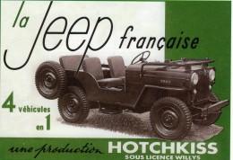 La Jeep Francaise  -  Production Hotchkiss     -  CPM - Toerisme