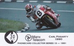 Isle Of Man, MAN 038, TT Racers 1991, Carl Fogarty, 2 Scans. - Isla De Man