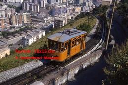 Reproduction Photographie D´un Tramway Ferrovia Genova Casella Dans Les Hauteurs De Genova En Italie En 1984 - Riproduzioni