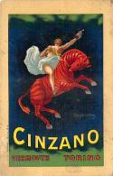 Cappiello Leonetto - Publicité Cinzano, Vermouth Torino (pas Une Carte Postale) (toilée) - Cappiello