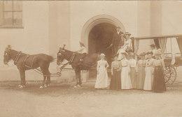 Mehrgespann-Kutsche - Original-Fotokarte - Jahrhundertwende    (P15-30818) - Photographie