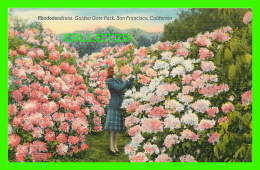 SAN FRANCISCO, CA - RHODODENDRONS, GOLDEN GATE PARK - ANIMATED - PUB. BY SMITH NEWS CO -