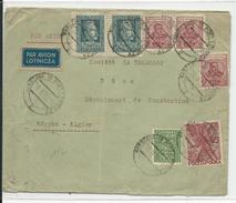 POLOGNE - 1932 - ENVELOPPE Par AVION De VARSOVIE Pour BONE (ALGERIE) - 1919-1939 Repubblica