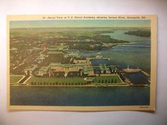 Carte Postale Etats-Unis Aerial View Of U.S. Naval Academy At Annapolis (Petit Format Non Circulée ) - Annapolis – Naval Academy