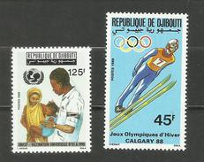 Djibouti N°642, 643 Neufs** Cote 3.60 Euros - Yibuti (1977-...)