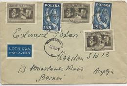 POLOGNE - 1948 - ENVELOPPE Par AVION De VARSOVIE Pour LONDON (GB) - 1944-.... Republic