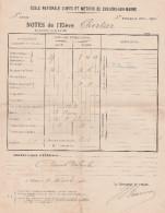 Ecole Nationale Des ARTS Et METIERS De CHÂLONS/Marne:lot De 6 Bulletins Trimestriels De Notes De L'élève C..Promo 1922/5 - Diplômes & Bulletins Scolaires