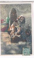 SANTA CLAUS NOEL PERE  NOEL + JOUETS   COLORISEE  1906    CP699 - Santa Claus