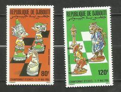Djibouti POSTE AERIENNE N°229, 230 Neufs** Cote 5.50 Euros - Yibuti (1977-...)