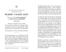 Devotie Doodsprentje Priester Hubert Lezy - Izegem 1899 - Wervik 1993 - Obituary Notices