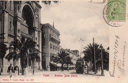 8745. TUNISIE LOT DE 3 CPA TUNIS. RUE SIDI-BEN-ZIAD. CONGREGATION RELIGIEUSE. AVENUE JULES FERRY. - Tunisie