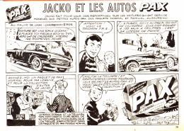 """PUB  COLLECTIONS VOITURES LESSIVE  """" PAX  """"  EN BANDES DESSINEES 1959 (5) - Publicités"""