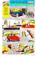 """PUB  COLLECTIONS VOITURES LESSIVE  """" PAX  """"  EN BANDES DESSINEES 1959 (7) - Advertising"""