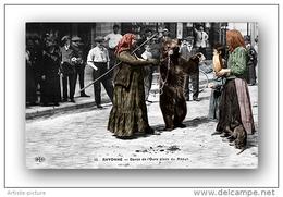 64 - Bayonne - Place Du Reduit - Danse De L'ours - Nomade -Vieux Métier - Métier D´antan - Carte à Collectionner - Repro - Bayonne