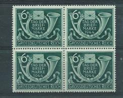 Deutsches Reich 1944  Viererblock Tag Der Briefmarke  Mi 904  Postfrisch - Duitsland