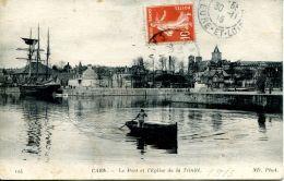 N°161 L -cpa Caen -le Port Et L'église- - Caen