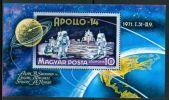 HUNGARY-1971.Souv.Sheet - Apollo 14 / Space / Moon Landing  MNH! Mi Bl.80. - Ongebruikt