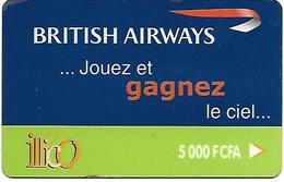 @+ TC Recharge De Cote D'Ivoire - Illico - British Airways 5 000 F CFA - Ivory Coast