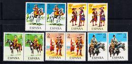 ESPAÑA 1974.UNIFORMES MILITARES .EDIFIL Nº2167/2171 .PAREJA NUEVOS SIN CHARNELA  .SES400GRANDE - 1931-Hoy: 2ª República - ... Juan Carlos I