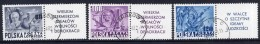POLAND 1948 US Constitution Set Of 3 With Labels, Used.  Michel 515-17 - 1944-.... Republic