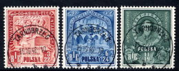 POLAND 1946 Education Commission  Set Of 3, Used.  Michel 445-47 - Used Stamps