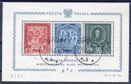 POLAND 1946 Education Commission  Block, Used.  Michel Block 9 - Blocks & Sheetlets & Panes