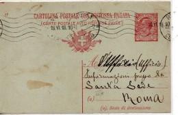 1918 Italy Italien Italia Intero CPRP Leoni C10 Vg X VATICAN Prisoners Office Information Ganzsache Stationery Card - 1900-44 Vittorio Emanuele III