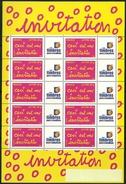 Feuillet Personnalisé F3760A Ceci Est Une Invitation Logo TPP - Personalized Stamps