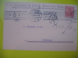 Brief , Cover , Lochung , Perfin , Perforé , Lettre Hambourg 1905 - Germania