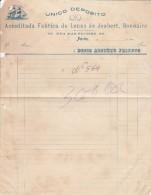 Invoice ::: Years 10 ::: Unico Deposito Da Acred. Fabrica De Lonas De Joubert, Bonnaire ::: Porto ::: - Portugal