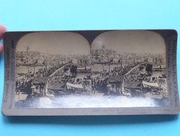 The Famous GALATA Bridge And The Golden Horn CONSTANTINOPLE Turkey ( Keystone View C° ) Zie Foto Voor Details ) ! - Stereoscopic