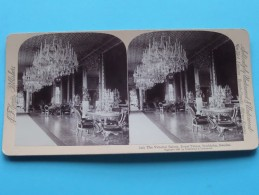 The VICTORIAL SALOON Royal Palace Stockholm SWEDEN ( Underwood & Underwood / N° 20 ) Zie Foto's Voor Details ) ! - Stereoscopic