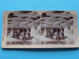 Grand DINING HALL Frederiksborg Castle DENMARK ( Underwood & Underwood / N° 15 ) Zie Foto´s Voor Details ) ! - Stereoscopic