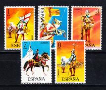 ESPAÑA 1973.UNIFORMES MILITARES .EDIFIL Nº2139/2143 NUEVOS SIN CHARNELA  .SES401GRANDE - 1931-Hoy: 2ª República - ... Juan Carlos I