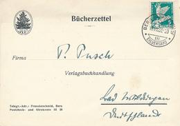 BERN  - 1932 , Bücherzettel Nach Bad Wildungen - Svizzera