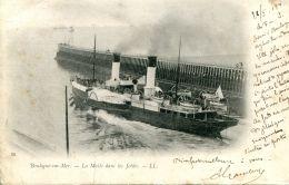 N°171 L -cpa Boulogne Sur Mer -la Malle Dans Les Jetée- - Commerce
