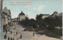 AK - LEMBERG (Lwiw) - Reges Treiben In Der Carl Ludwig Strasse 1909 - Ukraine