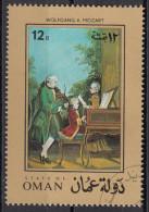 "628 Oman 1972 "" .. Mozart Family.. "" Quadro Dipinto Da C. Carmontelle Musica Paintings Tableaux - Oman"