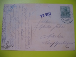 Brief , Cover , Lochung , Perfin , Perforé , Carte Postale Marmagen - Allemagne