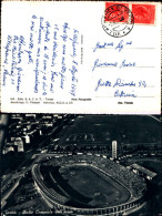 4354a)cartolina Torino Stadio Comunale Visto Dall'alto Ediz Sacat - Stadiums & Sporting Infrastructures