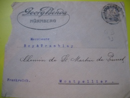 Brief , Cover , Lochung , Perfin , Perforé , Lettre Nürnberg - Allemagne