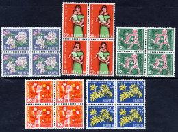 SWITZERLAND 1962 Pro Juventute Set In Blocks Of 4  MNH / **.  Michel 758-63 - Pro Juventute