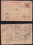 Deutsches Reich 1896 Antwort Ganzsache BRASLLIEN INDAYAL Blumenau Nach ARTEN - Ganzsachen