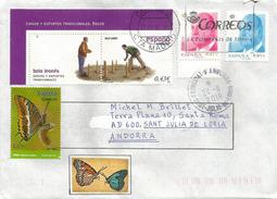 Los Bolos Leoneses, Jeux Traditionnels Province De Leòn,Espagne,adressée ANDORRA, Avec Timbre à Date Arrivée - Giochi